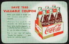 Ventage Coke, Coca Cola Coupon